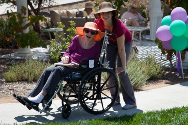 Enjoy the Outdoors & Stroll with a Senior - Vista Gardens Memory Care
